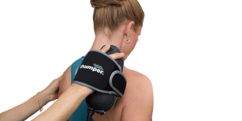 Allow the percussive action of the massage head do its work. Use your fingers to glide the device in the direction you want it to move.