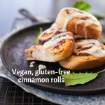 Vegan, gluten-free cinnamon rolls